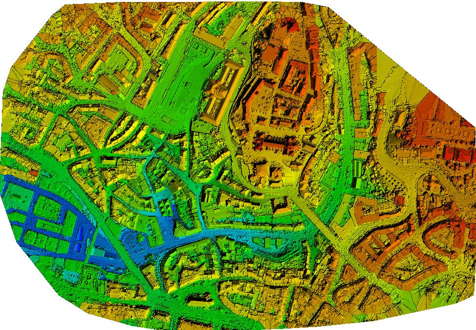 Genererad ytmodell gjort med data från drönare